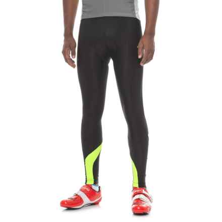 Canari Spiral Gel Cycling Tights (For Men) in Killer Yellow - Closeouts