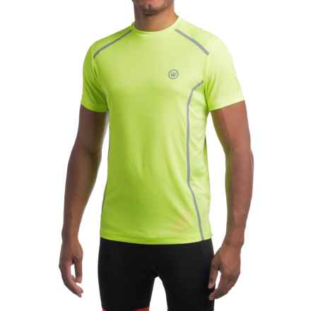 Canari Sport Tech T-Shirt - Crew Neck, Short Sleeve (For Men) in Killer Yellow - Closeouts