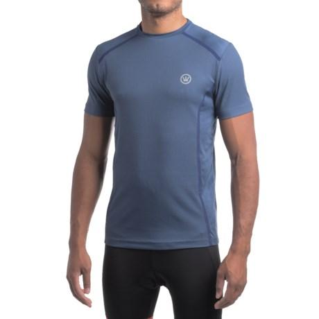 Canari Sport Tech T-Shirt - Crew Neck, Short Sleeve (For Men) in Twilight Blue
