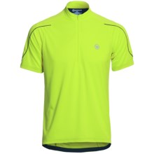 Canari Sportech Cruiser Jersey - Zip Neck, Short Sleeve (For Men) in Killer Yellow - Closeouts