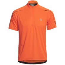 Canari Sportech Cruiser Jersey - Zip Neck, Short Sleeve (For Men) in Solar Orange - Closeouts