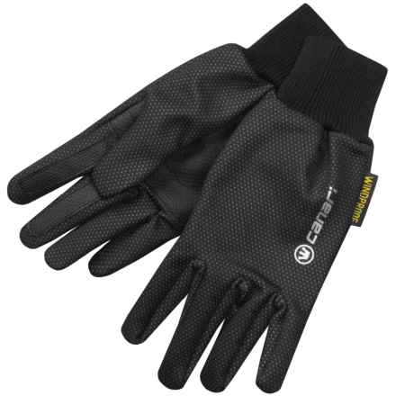 Canari Static Bike Gloves - Windproof (For Men and Women) in Black - Closeouts