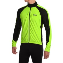 Canari Stratus Cycling Jersey - Long Sleeve (For Men) in Killer Yellow - Closeouts