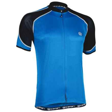 Canari Streamline Cycling Jersey - Short Sleeve (For Men) in Breakaway Blue - Closeouts