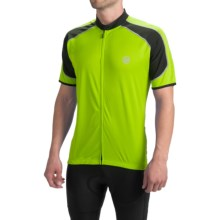 Canari Streamline Cycling Jersey - Short Sleeve (For Men) in Killer Yellow - Closeouts