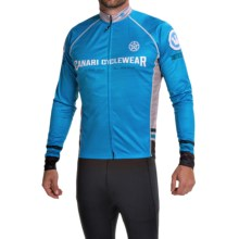 Canari Theon Cycling Jersey - UPF 30+, Full Zip, Long Sleeve (For Men) in Azure Blue - Closeouts