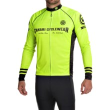 Canari Theon Cycling Jersey - UPF 30+, Full Zip, Long Sleeve (For Men) in Killer Yellow - Closeouts