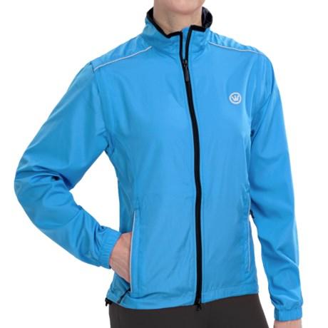 Canari Tour Cycling Jacket - Convertible (For Women) in Fiji Blue