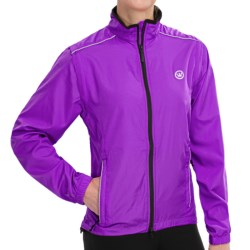 Canari Tour Cycling Jacket - Convertible (For Women) in Imperial Purple