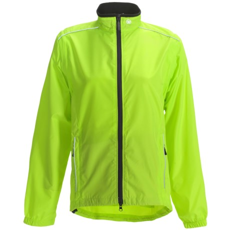 Canari Tour Cycling Jacket - Convertible (For Women) in Killer Yellow