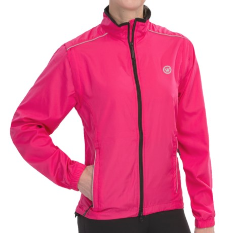 Canari Tour Cycling Jacket - Convertible (For Women) in Panther Pink