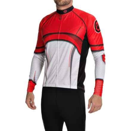 Canari Treader Cycling Jersey - Long Sleeve (For Men) in Radar Red - Closeouts