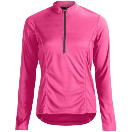 Canari Velocity II Cycling Jersey - UPF 30, Zip Neck, Long Sleeve (For Women) in Cotton Candy