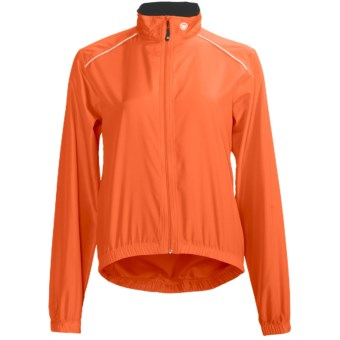 Canari Velocity Shell Cycling Jacket - Packable (For Women) in Solar Orange