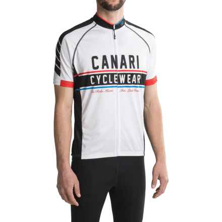 Canari Vista Cycling Jersey - Full Zip, Short Sleeve (For Men) in Black/White - Closeouts