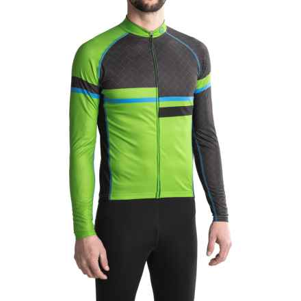 Canari Voyage Cycling Jersey - UPF 30+, Long Sleeve (For Men) in Ecto Green - Closeouts