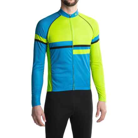Canari Voyage Cycling Jersey - UPF 30+, Long Sleeve (For Men) in Killer Yellow - Closeouts