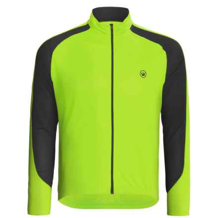 Canari Zoom Cycling Jersey - Full Zip, Long Sleeve (For Men) in Killer Yellow - Closeouts
