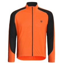 Canari Zoom Cycling Jersey - Full Zip, Long Sleeve (For Men) in Solar Orange - Closeouts