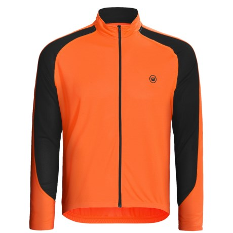 Canari Zoom Cycling Jersey - Full Zip, Long Sleeve (For Men) in Solar Orange
