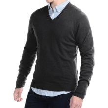 C/89 by Cullen Cashmere Sweater - V-Neck (For Men) in Black - Closeouts