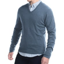 C/89 by Cullen Cashmere Sweater - V-Neck (For Men) in Chambrey - Closeouts
