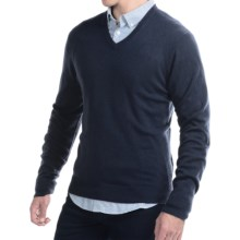 C/89 by Cullen Cashmere Sweater - V-Neck (For Men) in Navy - Closeouts