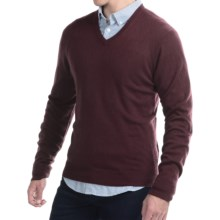 C/89 by Cullen Cashmere Sweater - V-Neck (For Men) in Ox Blood - Closeouts