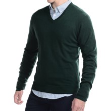 C/89 by Cullen Cashmere Sweater - V-Neck (For Men) in Spruce - Closeouts