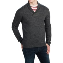 C/89 by Cullen Merino Wool Sweater - Shawl Collar (For Men) in Ebony - Closeouts
