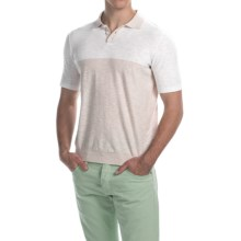 C/89men Color-Block Polo Shirt - Short Sleeve (For Men) in Natural - Closeouts