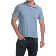 C/89men Cotton Polo Shirt - Short Sleeve (For Men) in Sky Heather - Closeouts