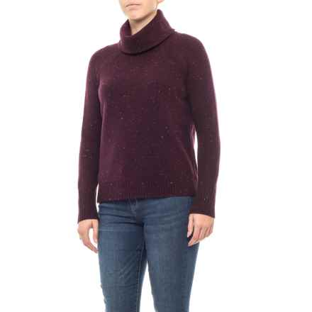 C&C California Double-Layer Turtleneck Sweater (For Women) in Bosenberry Donegal - Closeouts