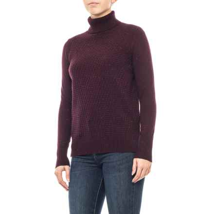 22fa5511b185d7 Clearance. C C California Drop Shoulder Cowl Texture Sweater - Merino Wool  (For Women) in Bosenberry