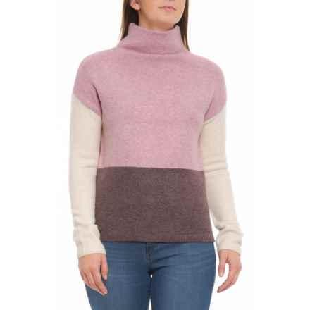 fa41ae6688 Clearance. C&C California Funnel Neck Sweater (For Women) in Iris Heather/  Smokey Raisin Heather