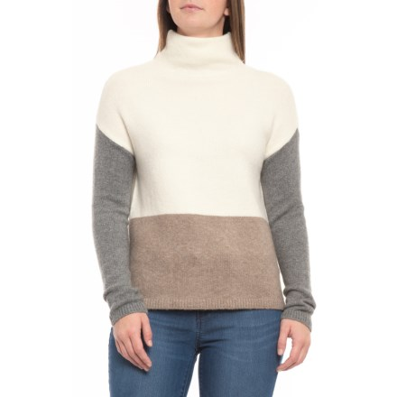dc2b6d1d36 C&C California Funnel Neck Sweater (For Women) in Sweet Tooth/ Dark Truffle  Heather