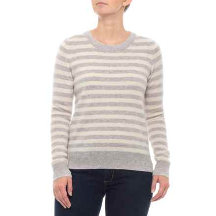 51cc9fb759 Clearance. C&C California Stripe Cashmere Sweater with Pops (For Women) in  Sweet Vanilla/True