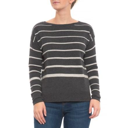 215c36158a C&C California Stripe Pullover Sweater - Merino Wool Blend (For Women) in  Dark Grey