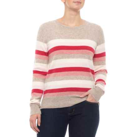 231d8b0481 C&C California Stripe Sweater - Cashmere (For Women) in Pink Combo -  Closeouts