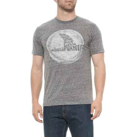 C&C California The Fin Heather T-Shirt (For Men) in Snow Black - Closeouts
