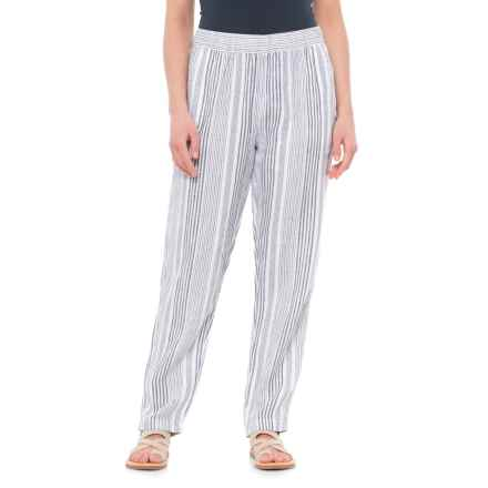 C&C California Yarn-Dyed Stripe Pants (For Women) in Black Multi Stripe - Closeouts
