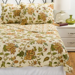 C&F Enterprises Agnes Cotton Quilt Set - King in Gold Multi