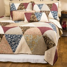 C&F Enterprises Dempsey Patchwork Quilt - Full-Queen in Natural - Closeouts