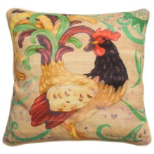 "C&F Enterprises Rooster Throw Pillow - 18x18"" in Taupe - Closeouts"