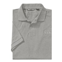 Canterbury of New Zealand Logo Polo Shirt - Twill Pique, Short Sleeve (For Men) in Grey Marle - Closeouts
