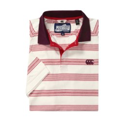 Canterbury Summer Stripe Polo Shirt (For Men) in Off-White