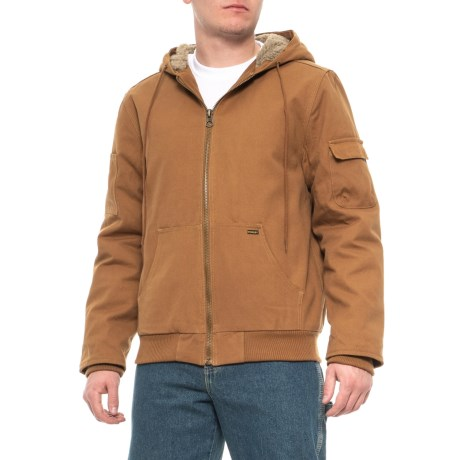 Image of Canvas Hooded Jacket - Sherpa Lined (For Men)