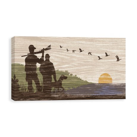"Canvas Hunters 2 Silhouette Art Print - 12x24"" in See Photo"