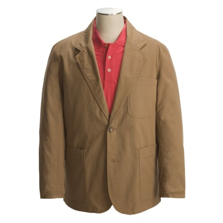 Canvas Presentation Jacket (For Men) in Brown