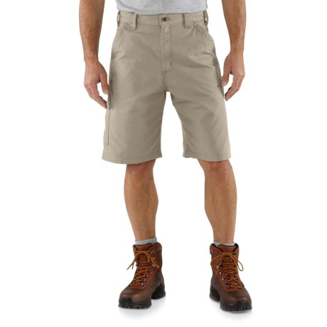 2NDS. One of the brandand#39;s original workhorses, Carharttand#39;s canvas work shorts are made of 7.5 ounce ring-spun cotton canvas, and have plenty of room for holding tools. Available Colors: LIGHT BROWN, TAN.